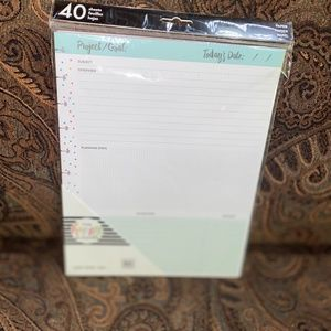 Happy planner Project Fill Paper BIG